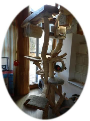katzenbaum unikate aus holz. Black Bedroom Furniture Sets. Home Design Ideas